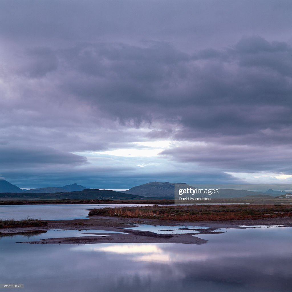 Landscape at dusk : Foto stock