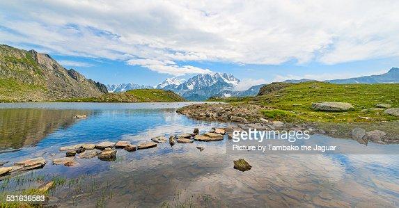 Landscape at the St Bernard Pass