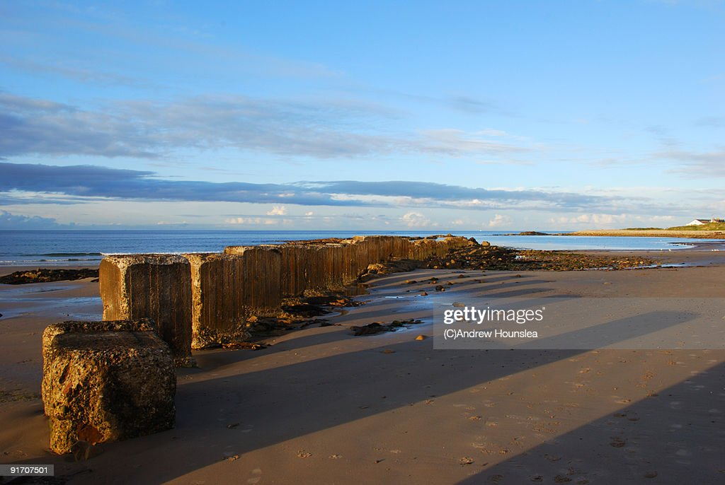 Landscape Beach Blocks : Stock Photo