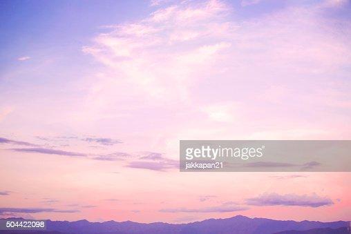 landscape beautiful sky : Stock Photo