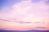 Nature background of beautiful landscape - serenity and rose quartz color filter