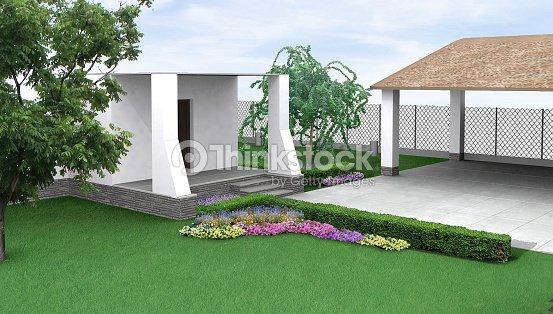 Paysagiste jardin parterre de fleurs rendu 3d photo for Parterre 3d