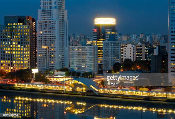 Landscape image of Sao Paulo city at night