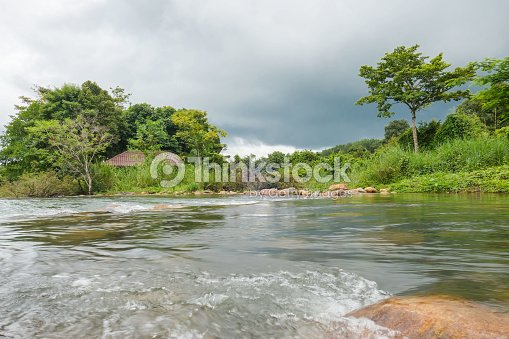 Landscape in the forest rainy season . perfect tree sky and water