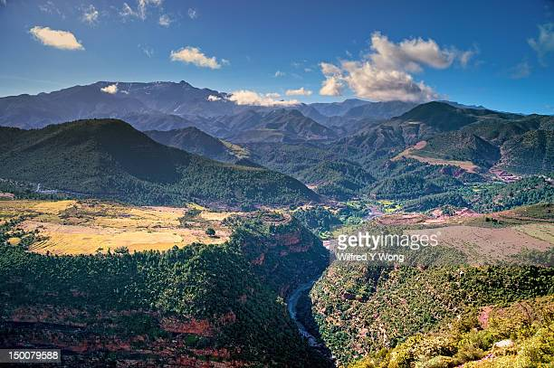 Landscape in the High Atlas mountains