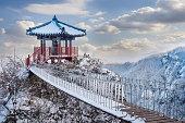 Landscape in winter,Seoraksan in korea