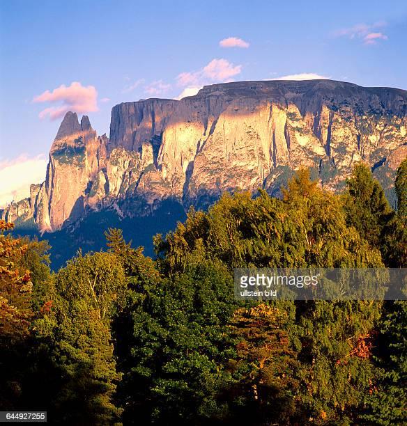 Landscape Italy Europe South Tyrol Dolomites mountains rock Santner Spitze
