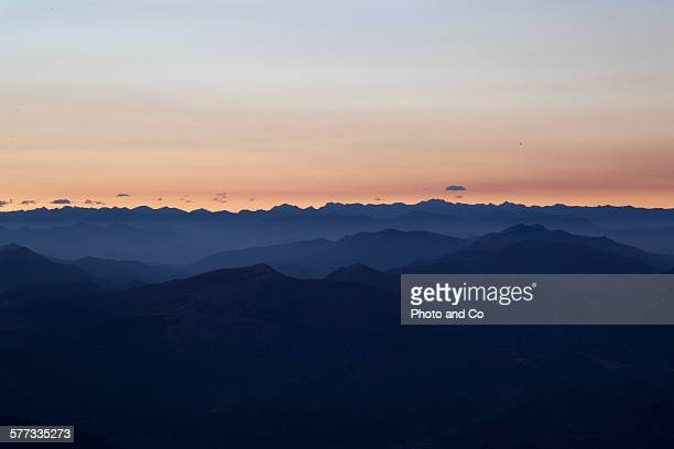 Landscape mountain (Alps) before sunrise