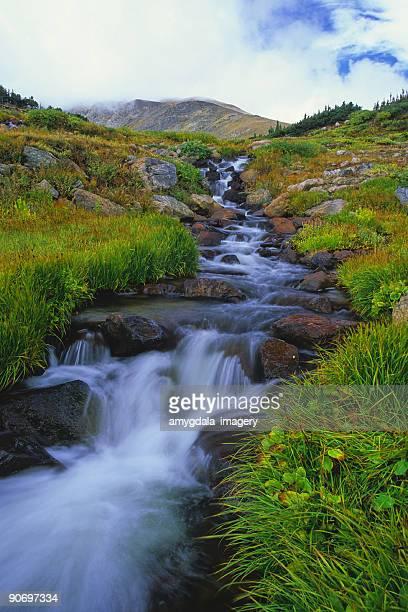 landscape mountain waterfall creek