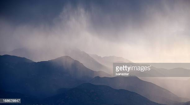 Landscape, Mountains, Storm