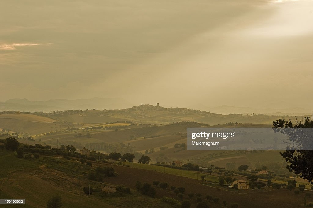 Landscape near the town : Stock Photo