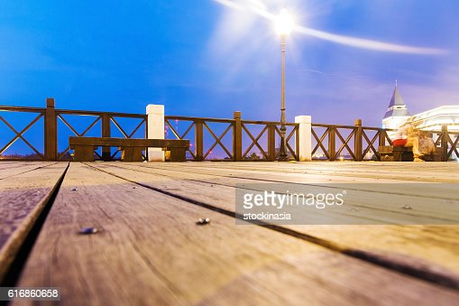 Landscape of a pier at night : Stock Photo