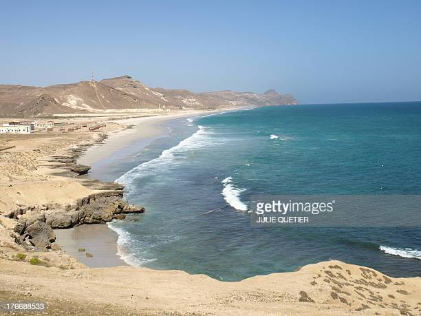 CONTENT] Landscape of an Arabian sea's beach in south OmanMughsayl near Salalah