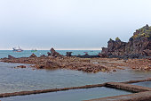 landscape of brittany - pors even and its oyster
