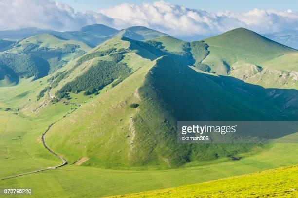 Landscape of Castelluccio di Norcia Valley, sibilini national park Umbria - Italy
