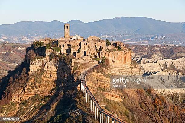 Landscape of Civita di Bagnoregio (Italy)
