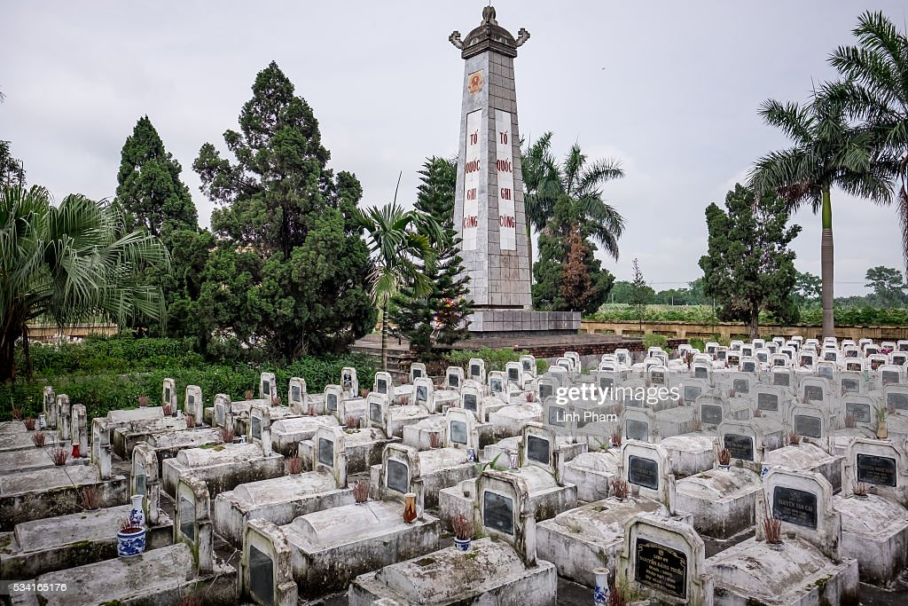 Landscape of Co Loa Martyrs Cemetery on May 25, 2016 in Hanoi, Vietnam. U.S. President Obama made his historic visit to Vietnam on May 23 with an aim to strengthen the strategic and economic relationship between both countries four decades after the Vietnam war. During the visit, Obama announced the U.S. will fully lift its embargo on weapons and raised issues related to human rights while speaking to the youths on freedom of expression.