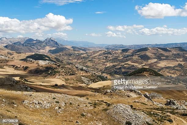 Landscape of El Torcal in Antequera, Spain