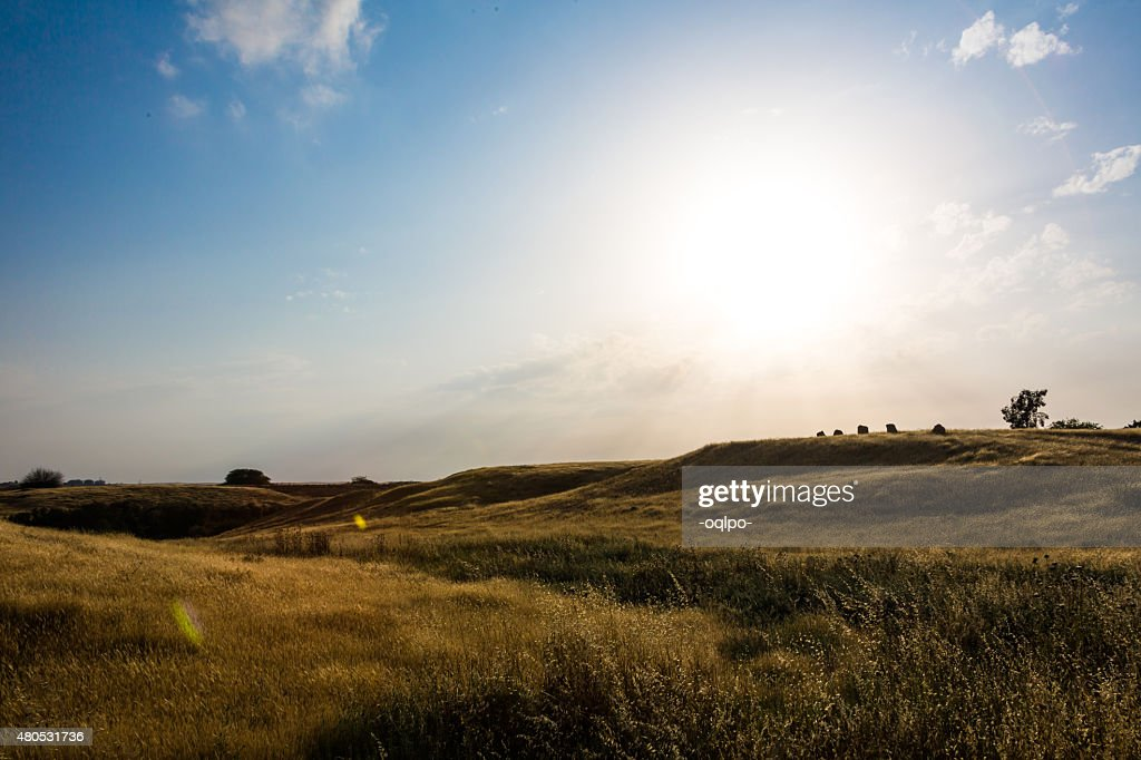 landscape of green hills : Stockfoto
