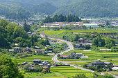 Landscape in summer in IIda, Nagano, Japan