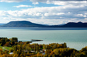 Landscape of Lake Balaton, Hungary ( Balatonboglar )