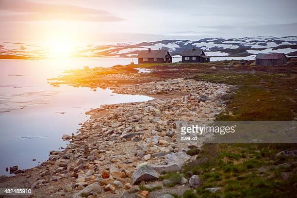 Paesaggio del parco nazionale in Norvegia.