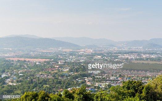 Paisagem de Cidade de phuket, Tailândia : Foto de stock