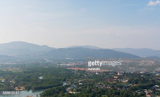 Landscape of phuket town, Thailand : Stock Photo
