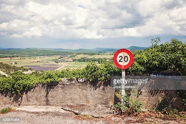 Landscape of Provence from Simiane-la-Rotonde wall