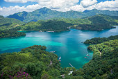 a famous lake in Taiwan named sun moon lake