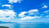 landscape of the blue sea and sky