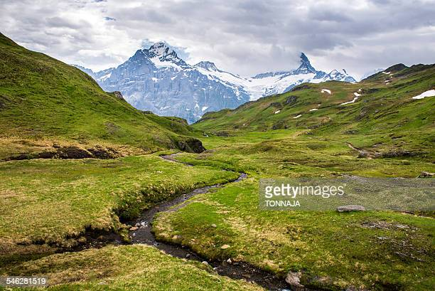 Landscape of the Grindelwald-First hiking route