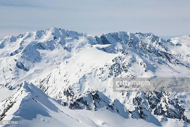 landscape of the montains in Valdez Alaska