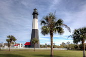 Tybee Island Lighthouse during the day.