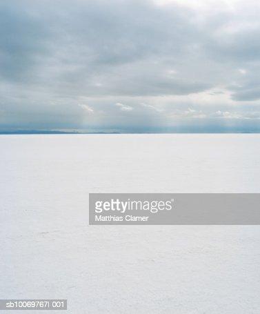 landscape of Utah salt flats
