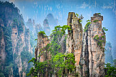 Landscape of Zhangjiajie. Located in Wulingyuan Scenic and Historic Interest Area which was designated a UNESCO World Heritage.