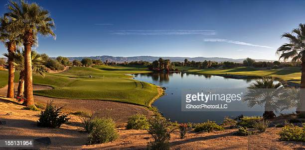 Golf Panorama-Landschaft in Palm Desert