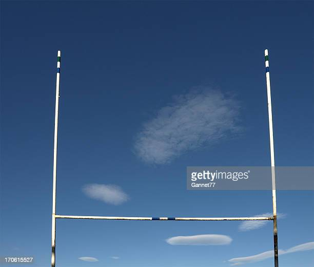 Landscape photograph if Rugby goal posts