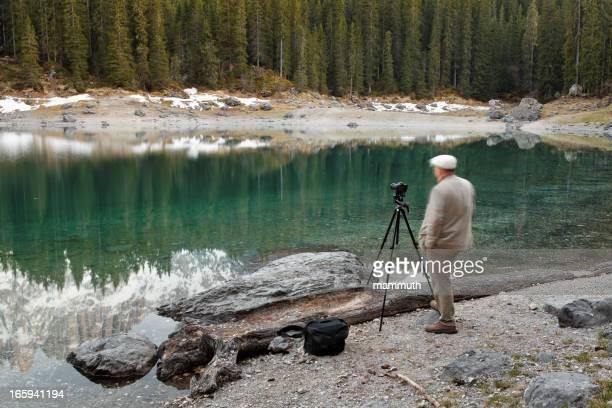 landscape photographer waiting for the light