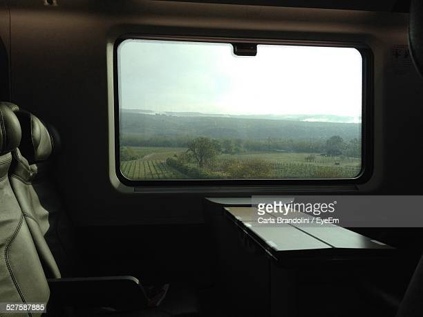 Landscape Seen Through Train Window