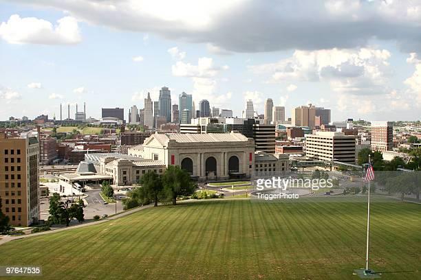 A landscape shot of the Kansas City skyline