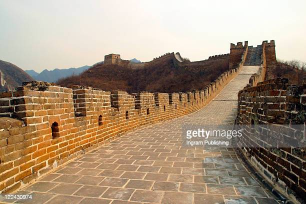 A landscape stock photo of the Great Wall of China, China. Asia