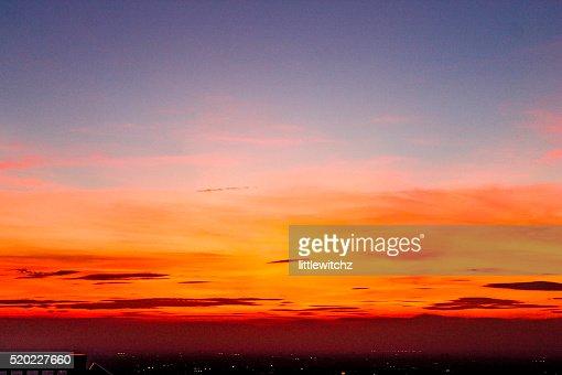 Landscape sunset, Tokyo City View : Stock Photo