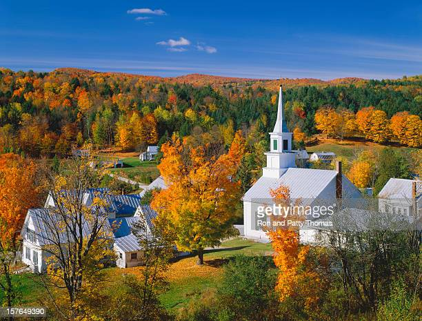 Landscape view of autumn in Vermont