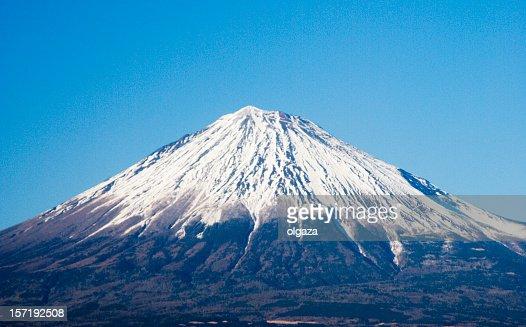 A landscape view of Mount Fuji