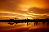 Landscape view of sunset in Thailand