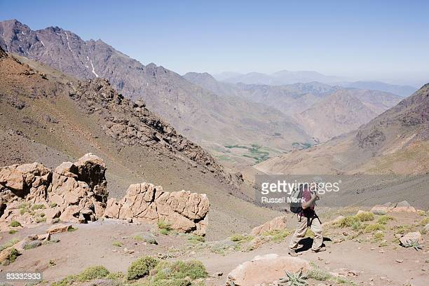 Landscape view of the High Atlas Mountains