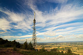 landscape view with telephone mast