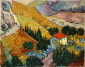 'Landscape with House and Ploughman' 1889 Found in the collection of the State Hermitage St Petersburg