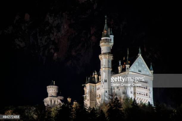 CONTENT] Landscape with Neuschwanstein Castle at night